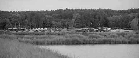 Ein Dorf aus Zelten