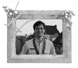 David auf der Dachterasse seiner Kölner WG